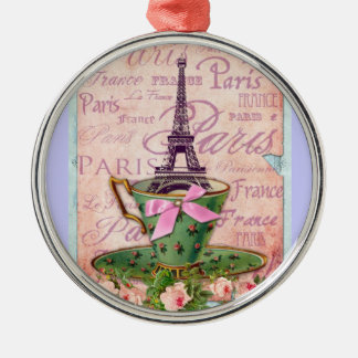 A Cup of Tour Eiffel Christmas Ornament