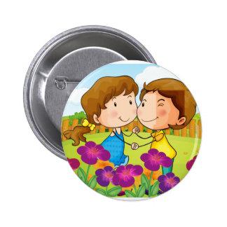 A cupid angel 6 cm round badge