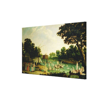 A cure bath in Moscow Canvas Print