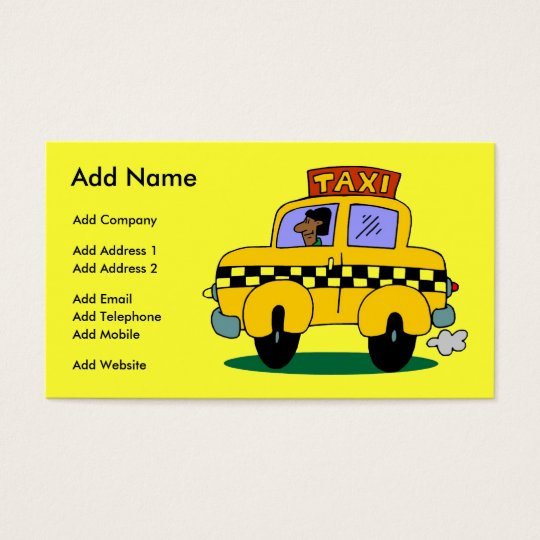 A Customisable Taxi Business/Profile Card