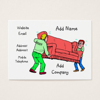 A Customizable Mover Business/Profile Card