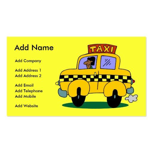A Customizable Taxi Business/Profile Card Business Card