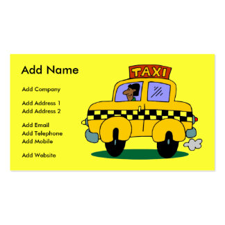 A Customizable Taxi Business/Profile Card Pack Of Standard Business Cards