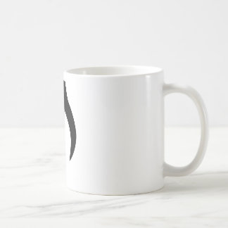 A customize blck musical note products. classic white coffee mug