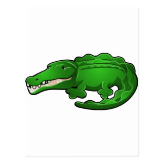 A Cute Alligator or Crocodile Cartoon Character Postcards