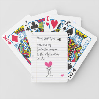 A cute and quirky doodle for mums. bicycle playing cards