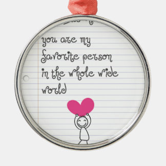 A cute and quirky doodle for mums. christmas ornament