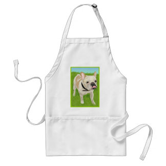 A cute Artistic & Whimsical French Bulldog Standard Apron