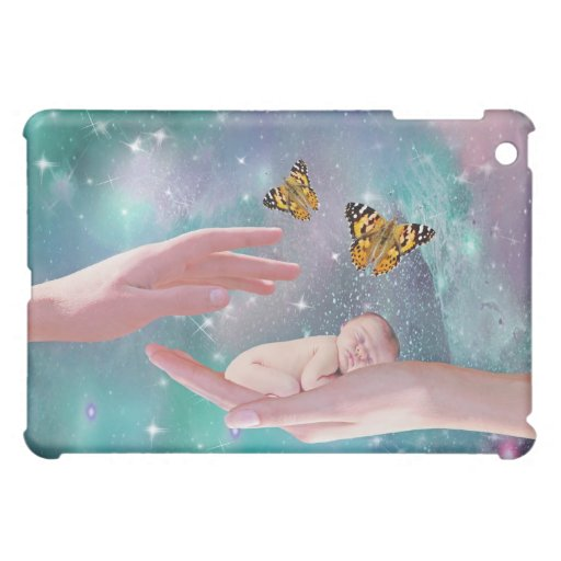 A cute baby boy in hand fantasy iPad mini cases