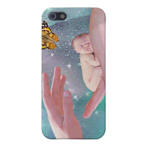 A cute baby boy in hand fantasy cover for iPhone 5