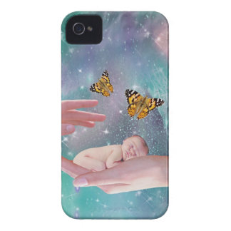 A cute baby in hand fantasy Case-Mate iPhone 4 cases