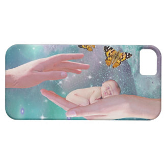 A cute baby in hand fantasy iPhone 5 case