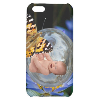 A cute baby lily butterfly bubble iPhone 5C covers