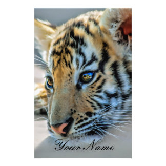 A cute baby tiger customized stationery