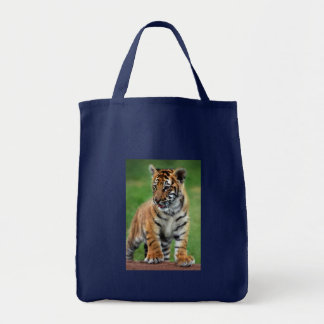 A cute baby tiger tote bag
