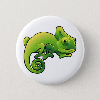 A cute chameleon lizard 6 cm round badge