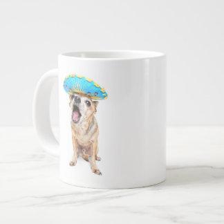 A Cute Chihuahua In A Halloween Costume Jumbo Mug
