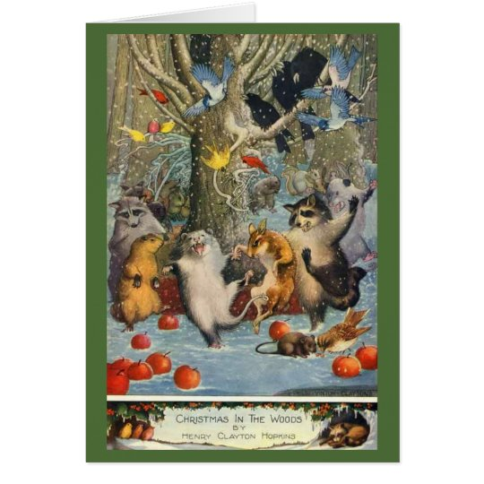 A Cute Christmas in the Woods Card