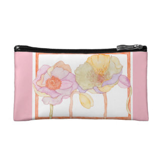 A cute cosmetic bag with floral style