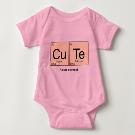 A Cute Element periodic table baby bodyshirt Baby