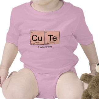 A Cute Element periodic table baby bodyshirt Baby Creeper