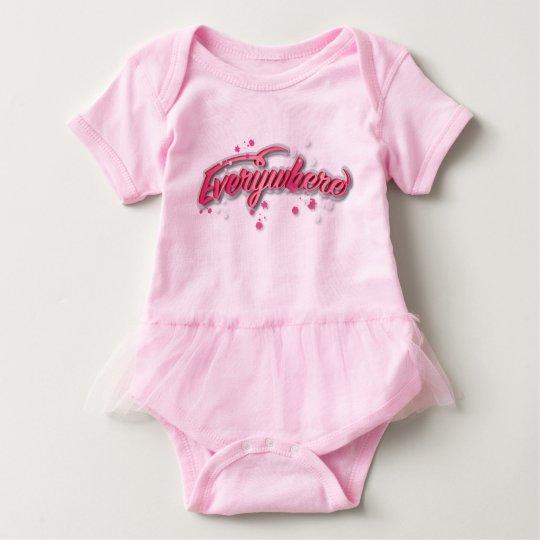 A cute everywhere logo print tutu dress