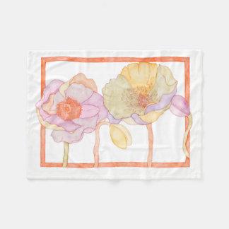 A cute floral-style fleece blanket