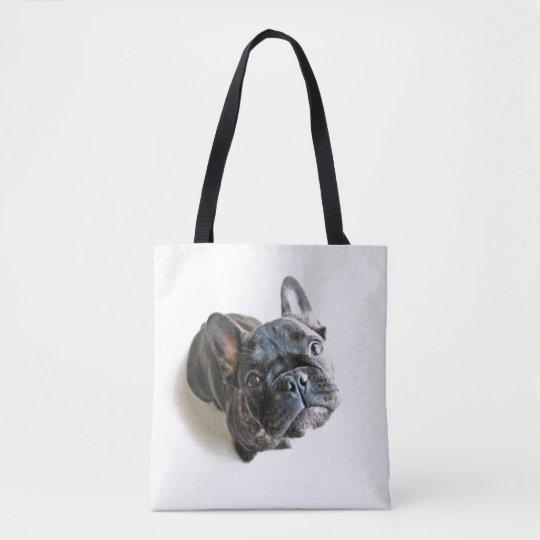 A Cute French Bulldog Puppy Tote Bag