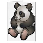A cute friendly giant panda bear