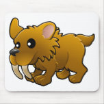 A cute friendly sabre tooth tiger mouse pads