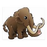 A cute friendly woolly mammoth