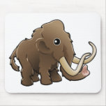 A cute friendly woolly mammoth mousemat
