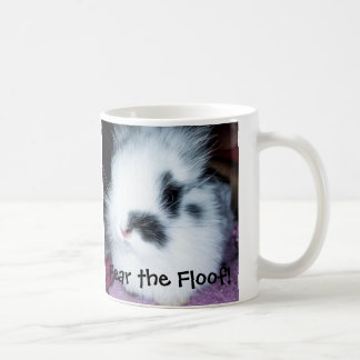 A cute, furry bunny who wants to be fierce. coffee mug