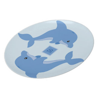A Cute Happy Dolphin Plate