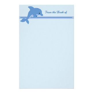 A Cute Happy Dolphin Stationery