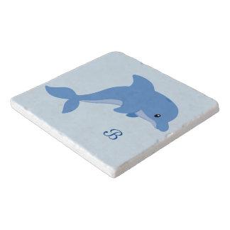 A Cute Happy Dolphin Trivet