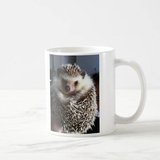 A cute hedgehog coffee mug
