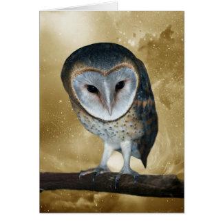 A Cute little Barn Owl Fantasy Card