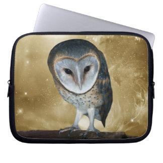A Cute little Barn Owl Fantasy Laptop Sleeve
