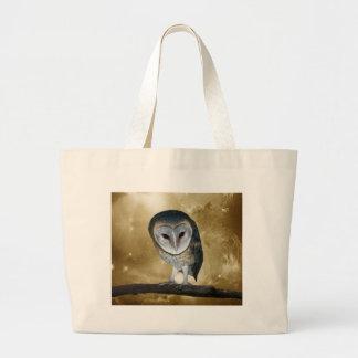A Cute little Barn Owl Fantasy Large Tote Bag