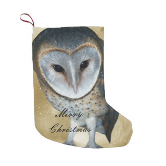 A Cute little Barn Owl fantasy Small Christmas Stocking