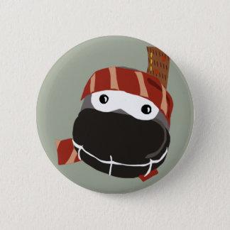 A cute little happy Ninja button. 6 Cm Round Badge