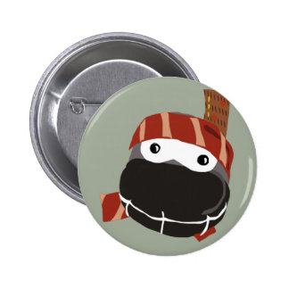 A cute little happy Ninja button. 6 Cm Round Badge