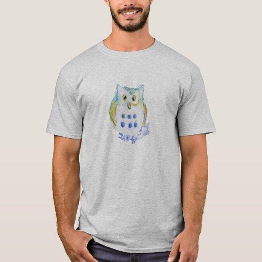 A Cute Little Owl - Watercolor Pencils T-Shirt