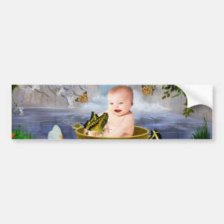 A cute nature baby bumper sticker