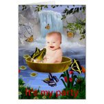 A cute nature baby greeting card