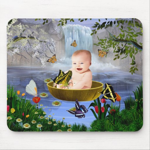A cute nature baby mouse pad