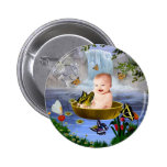 A cute nature baby pinback buttons