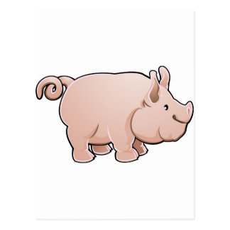 A cute pig farm animal postcards