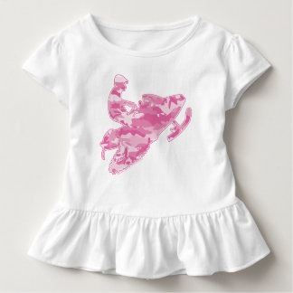 A Cute Pink Camouflage Smowmobiler Toddler T-Shirt